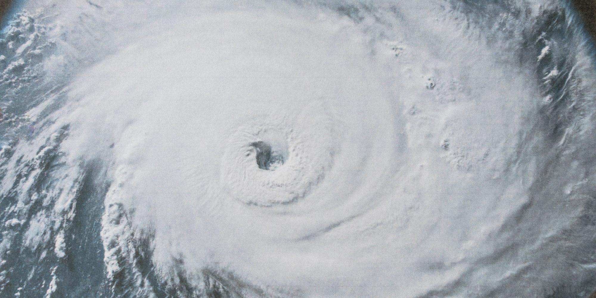 Foto satellitare di un ciclone